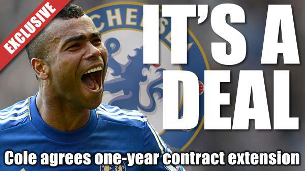 Ashley Cole will stay at Chelsea until 2014.