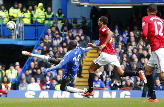 Demba Ba's goal against Manchester United. His finest moment as a Blue.