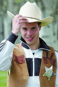 he hasn't really missed games due to him being a cowboy, I just wanted to incorporate this picture somehow