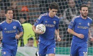 Oscar, Eden Hazard and Juan Mata