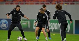 CFC training ahead UCL match
