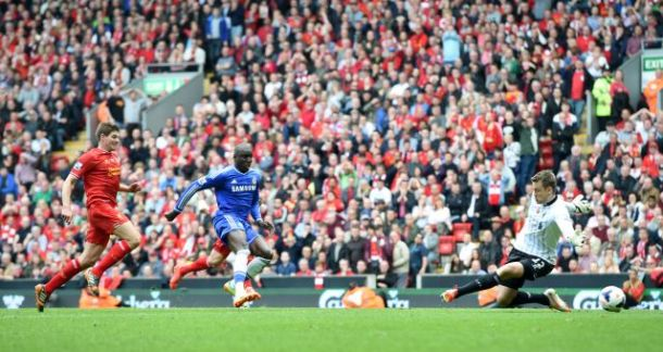 The moment when Liverpool fans went silent. Demba Ba