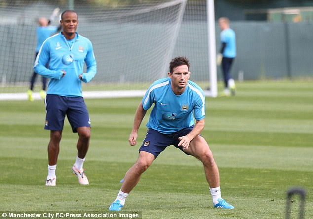 Frank Lampard has yet to feature for the Manchester club after his loan move from MLS based New York City FC