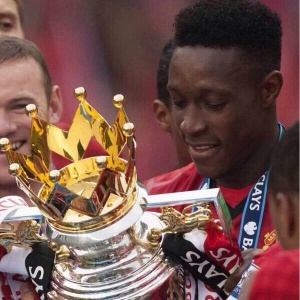 A happy Daniel Welbeck