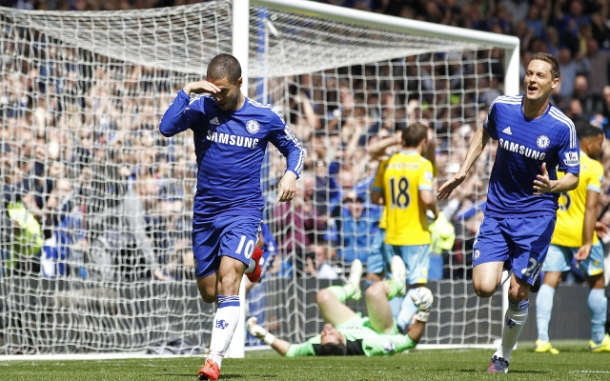 A first half Hazard header was enough to clinch our 5th league title